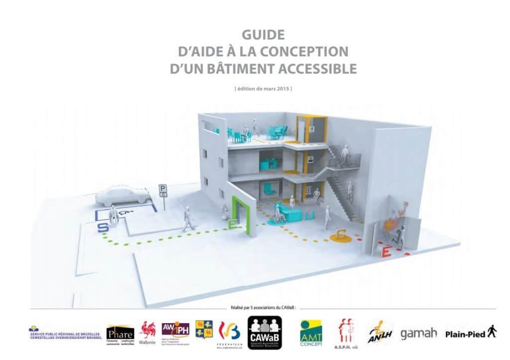 couverture du guide d'aide à la conception d'un bâtiment accessible - CAWaB