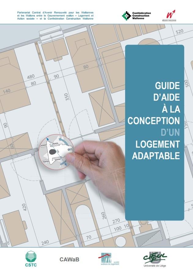 couverture du guide d'aide à la conception d'un logement adaptable - CAWaB