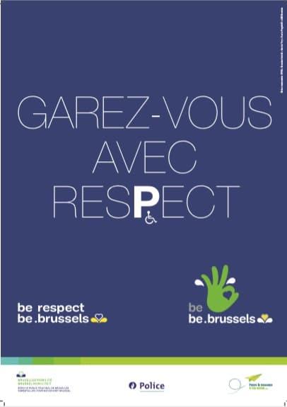"""affiche de la campagne """"Garez-vous avec respect"""" de """"Passe le Message à ton Voisin"""""""