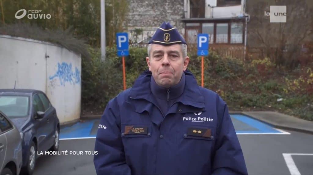 """émission """"Contact"""" de la RTBF sur l'accessibilité du stationnement pour les PMR"""