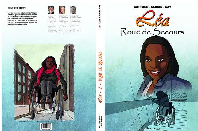 bande dessinée sur les aventures de Léa, PMR en chaise roulante