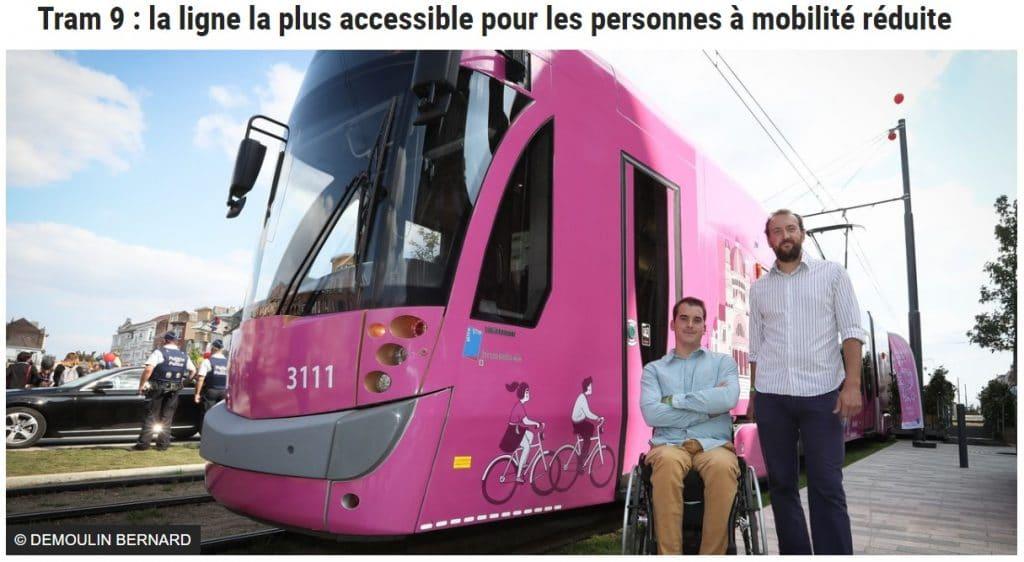 Tram 9: la ligne de tram de la STIB la plus accessible pour les PMR
