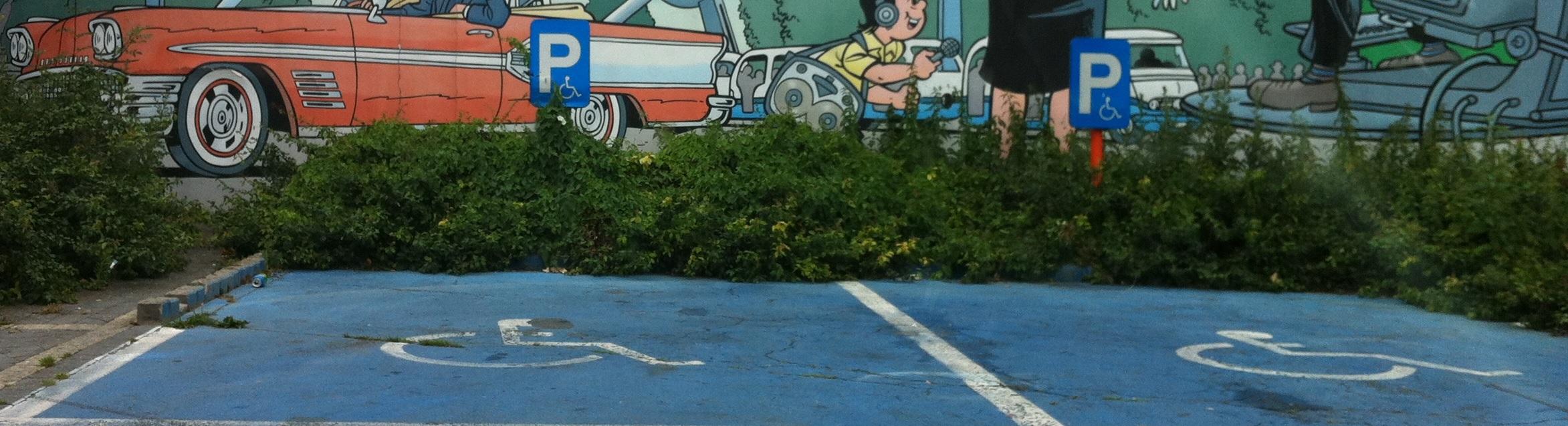 places de stationnement pour personnes handicapées
