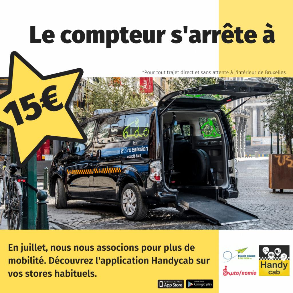 taxi PMR à 15€ max en juillet 2021